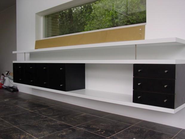 wandkast black-white - Alsemgeest Design & Build